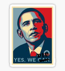 Obama. Yes we did. Sticker