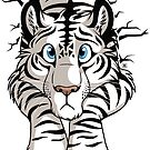 Sticker - STUCK WhiteTiger  by tanidareal