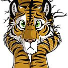 Sticker - STUCK Brown Tiger by tanidareal