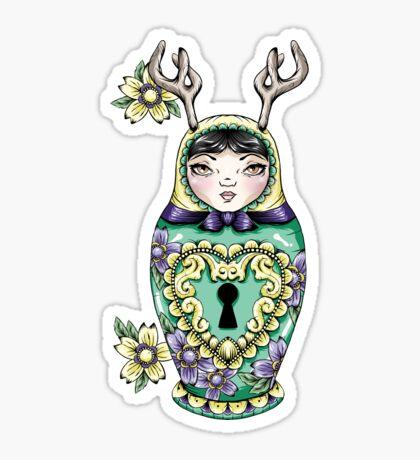 Lock Pick Russian Doll Sticker
