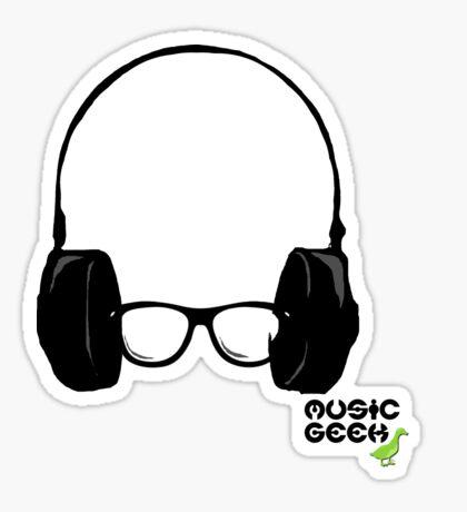 MUSIC GEEK Sticker