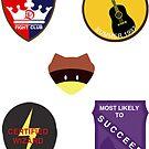 Moonrise Kingdom Patches Sticker Set (2) by kittenblaine