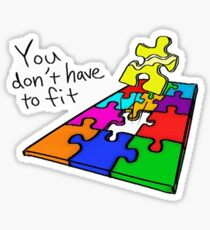 Golden Puzzle Piece Sticker