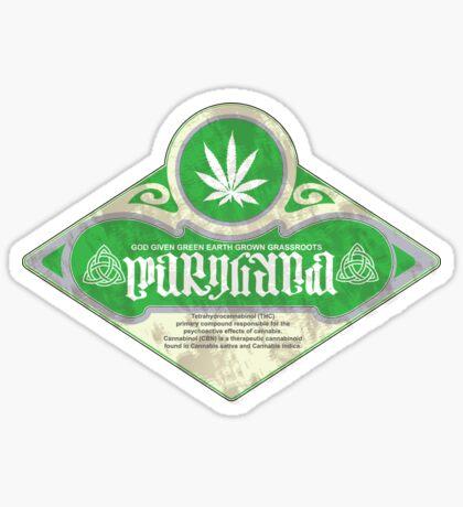 marijuana ambigram Sticker