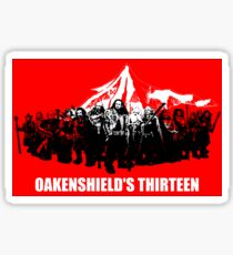 Oakenshield's Thirteen Sticker Sticker