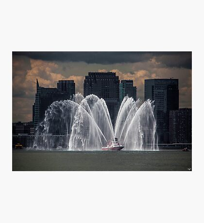 Fireboat on the Hudson Photographic Print