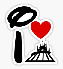 I Heart Space Mountain Sticker