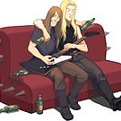 Drunk guitarists by Okha