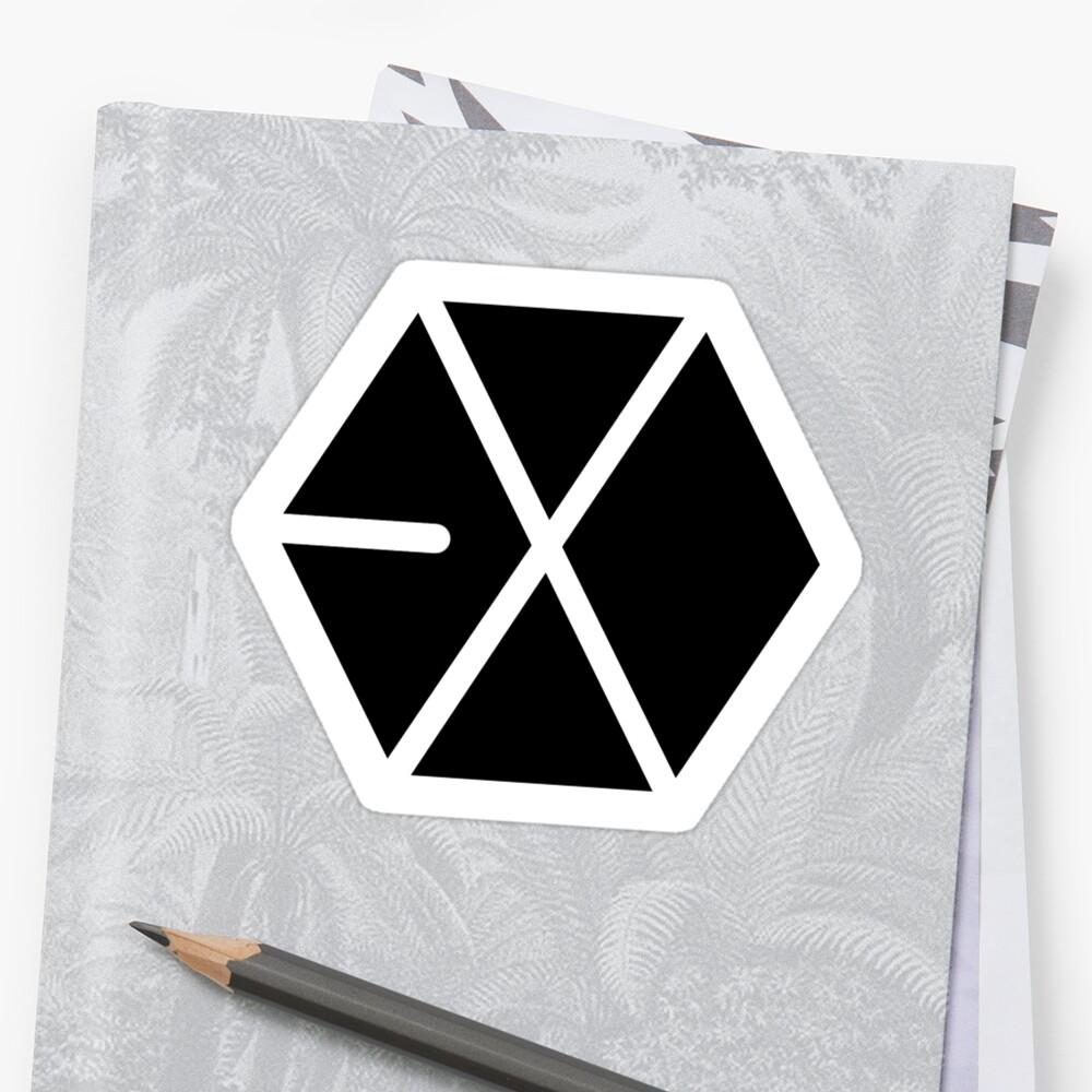 EXO Black Logo by madiamondring