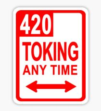 POT SMOKING SIGN Sticker