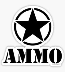 AMMO with Army Invasion Star Sticker
