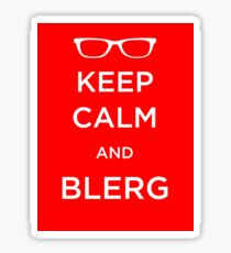 Blerg Sticker Sticker