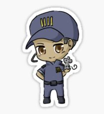 Mass Effect 3 Chibi Zodiac - David Anderson Sticker