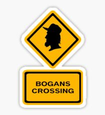 Bogans crossing (diamond square) Sticker