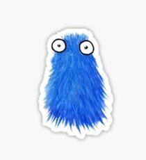 Blue Fluff Monster Sticker