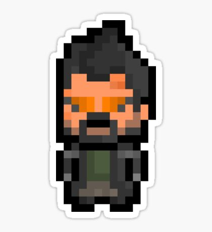Pixel Adam Jensen (Deus Ex : Human Revolution) Sticker Sticker