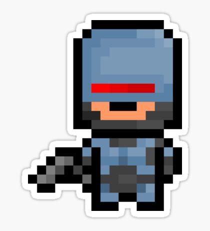 Pixel Robocop Sticker Sticker