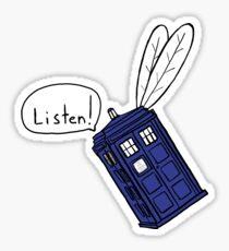 Flying Phone Box - N.A.V.I. - Sticker Sticker