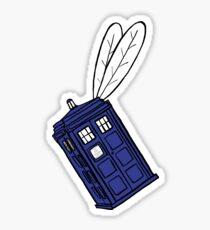 Flying Phone Box - Sticker Sticker