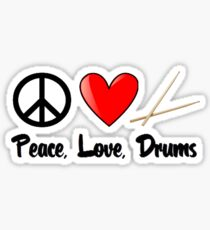 Peace, Love, Drums Sticker
