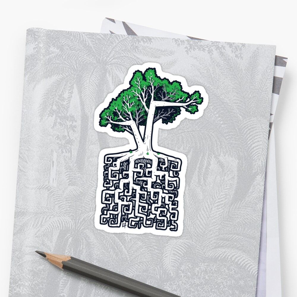 Square Root Sticker by c0y0te7