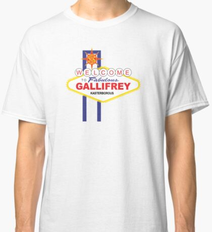 Dr Who - Welcome to Gallifrey Classic T-Shirt