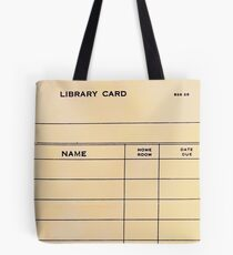 Lonely Library Card Tote Bag
