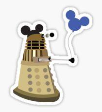 Dalek on Vacation Sticker