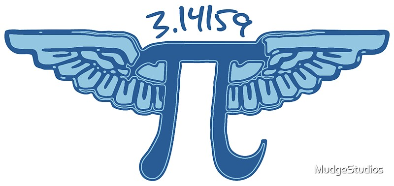 Pi symbol with wings stickers by mudgestudios redbubble for Pi character
