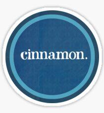 Cinnamon.  Sticker