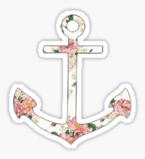 Floral Anchor 1 Sticker