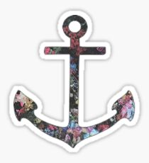Floral Anchor 2 Sticker
