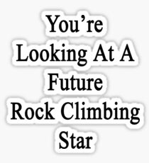 You're Looking At A Future Rock Climbing Star Sticker