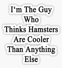 I'm The Guy Who Thinks Hamsters Are Cooler Than Anything Else Sticker