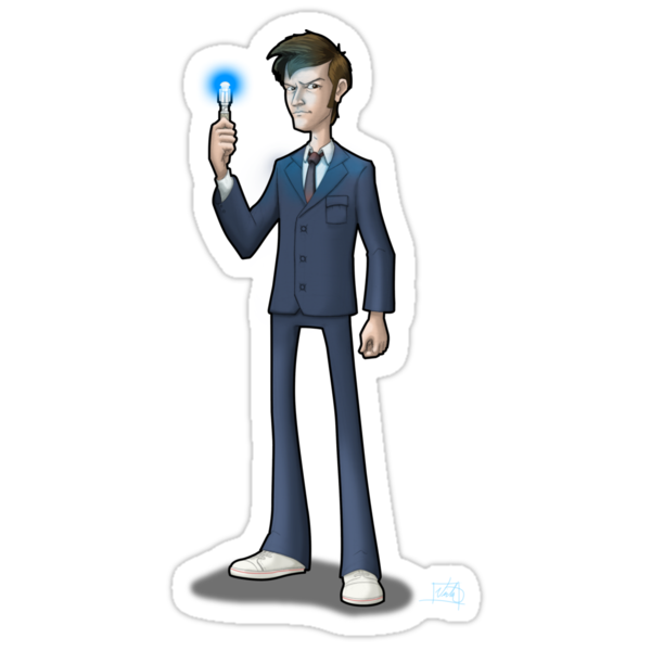 The 10th Doctor - STICKER by Mike Victa