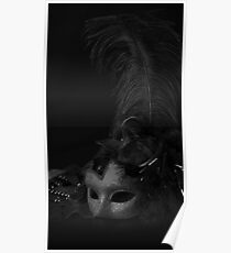 Venetian Mask, against black background  Poster