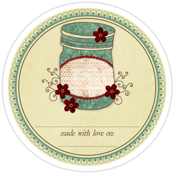 """Gram's Jams """"Made With Love"""" Label by David & Kristine Masterson"""