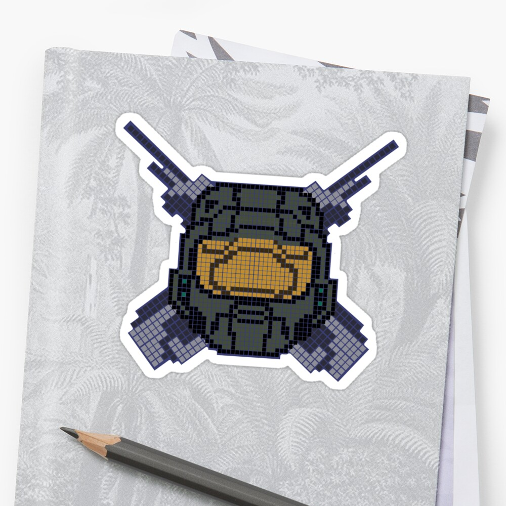 Halo - Pixl Chief sticker!  by Krs  Props