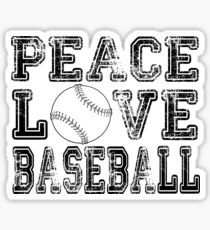 Peace, Love, Baseball Sticker