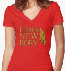 Times New Rory Women's Fitted V-Neck T-Shirt