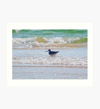 Splashing in the Sea Art Print
