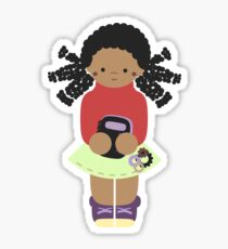 Jaya, Girl & Book Sticker