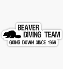 Beaver Diving Team Sticker