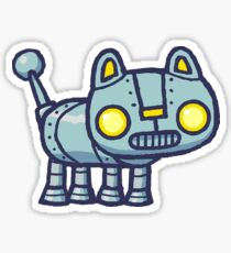 Bucket the robot hackycat Sticker