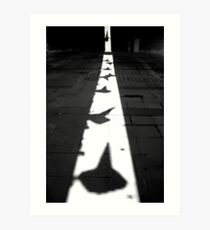 Traffic cones in shadow Art Print