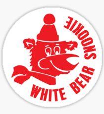 White Bear Snookie Sticker