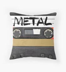 Heavy metal Music band logo Throw Pillow