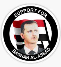 Support for Assad Sticker