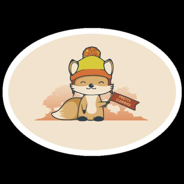 Pretty Cunning Sticker by perdita00