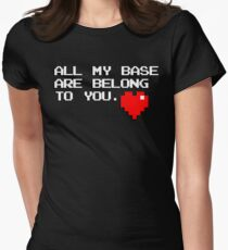All My Base (White) Womens Fitted T-Shirt